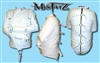 WHITE LEATHER LOOK BUCKLE RESTRAINT STRAITJACKET