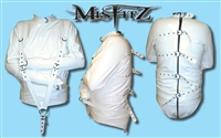 WHITE PVC BUCKLE STRAIT JACKET