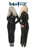 PVC PADLOCK HOBBLE STRAIT JACKET DRESS