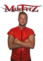 MISFITZ RUBBER LATEX ZIP T SHIRT