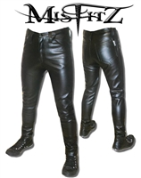 MISFITZ CLASSIC LEATHER LOOK JEANS