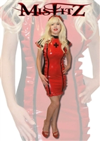 BLACK & RED LATEX NURSES UNIFORM