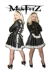 LEATHER LOOK BUCKLE STRAIT JACKET MAIDS UNIFORM