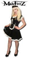 MISFITZ BLACK & WHITE LATEX FRENCH MAIDS OUTFIT