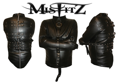 MISFITZ DELUXE LEATHER LOOK BUCKLE STRAITJACKET