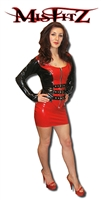 MISFITZ RUBBER LATEX MICRO MINI SKIRT