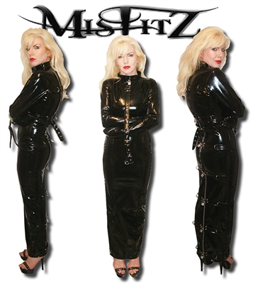 MISFITZ PVC STRAITJACKET HOBBLE RESTRAINT DRESS