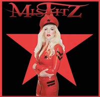 MISFITZ RED RUBBER LATEX MILITARY STYLE MICRO MINI SKIRT