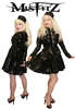 MISFITZ ALL BLACK PVC STRAIT JACKET MAIDS UNIFORM
