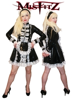 MISFITZ RUBBER LATEX STRAITJACKET MAIDS DRESS