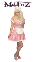 MISFITZ BABY PINK RUBBER LATEX MAIDS DRESS