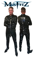 MISFITZ BLACK RUBBER LATEX PADLOCK STRAIT JACKET