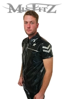 MISFITZ BLACK AND SILVER RUBBER LATEX SHERIFF SHIRT