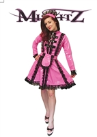 MISFITZ DELUXE HOT PINK PVC STRAITJACKET MAIDS UNIFORM