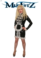 MISFITZ BLACK PVC STRAITJACKET MISTRESS MAIDS DRESS