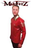 MISFITZ RED AND SILVER RUBBER LATEX MILITARY SHIRT