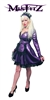 MISFITZ DELUXE PEARLSHEEN PURPLE RUBBER LATEX MAIDS DRESS