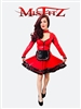 MISFITZ DELUXE RED RUBBER LATEX MAIDS DRESS