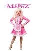 MISFITZ PEARLSHEEN PINK RUBBER LATEX STRAIT JACKET MAIDS UNIFORM