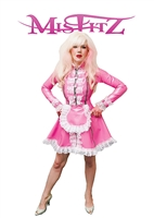MISFITZ PEARLSHEEN PINK RUBBER LATEX STRAITJACKET MAIDS UNIFORM