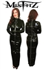MISFITZ BLACK GLOSS PVC STRAITJACKET HOBBLE DRESS