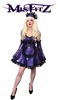 MISFITZ PEARLSHEEN PURPLE LATEX LACE UP MAIDS DRESS