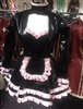 MISFITZ PVC MAIDS OUTFIT/ BABY PINK SATIN TRIMS