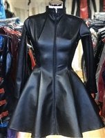 LEATHER LOOK MISTRESS SKATER DRESS