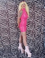 PVC BARBARELLA DRESS WITH TWO WAY ZIPPER