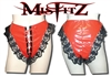 MISFITZ RED PVC LACE UP PANTIES