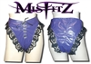 MISFITZ PURPLE PVC LACE UP PANTIES