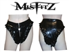 MISFITZ BLACK RUBBER LATEX PADLOCK PANTIES