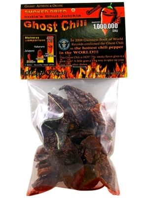 Dried Whole Ghost Chiles Pods