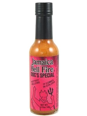 Jamaica Hell Fire Doc's Special Hottest Hell Fire Sauce