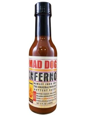 Mad Dog Inferno Hot Sauce Scoville