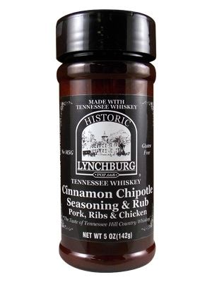 Historic Lynchburg Tennessee Whiskey Cinnamon Chipotle Seasoning and Rub