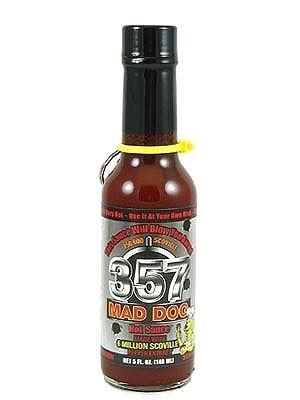 Mad Dog 357 Hot Sauce Silver Collector's Edition w/ Bullet