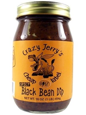Crazy Jerry's Cheap @$$! Label Spicy Black Bean Dip