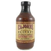 Cajohn's Mesquite Smoked Raspberry Vodka New-Mex Barbeque Sauce