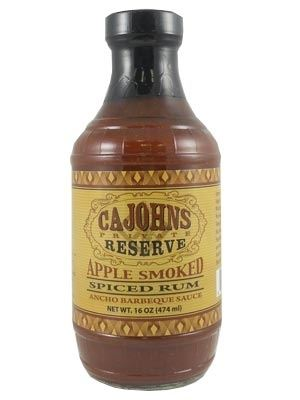 Cajohn's Apple Smoked Spiced Rum Ancho Barbeque Sauce,