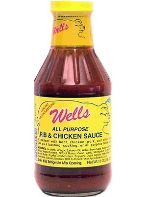 Wells All Purpose Pork Rib & Chicken BBQ Sauce
