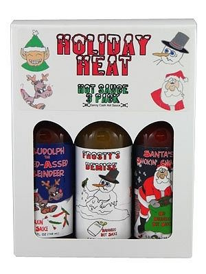 Holiday Heat Hot Sauce 3 Pack Gift Set
