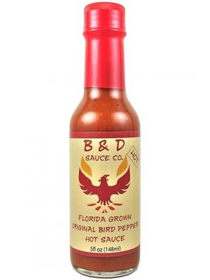 B&D'S Hot Florida Grown Original Bird Pepper Hot Sauce