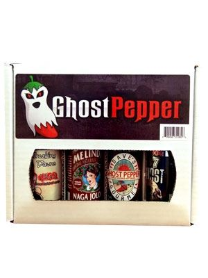 Ghost Pepper Hot Sauce Gift Box