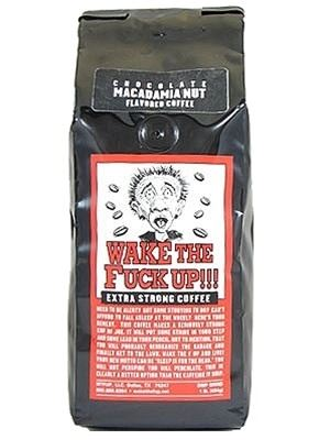 Wake The Fuck Up! Coffee Chocolate Macadamia Nut Flavor
