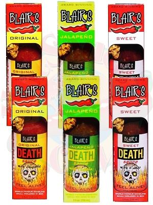 Blair's Milder Death Sauces Six Pack