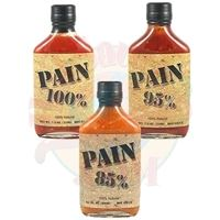 PAIN 100%, 95% and 85% Hot Sauce Set