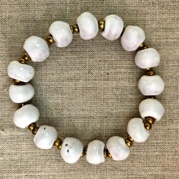Simple Ceramic Bracelet - White