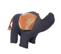 Eloise the Elephant - Navy/Brown