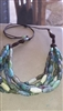 Peace Quilt Multi-Strand Necklace - Blue